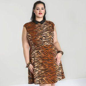 Tiger Print shirt Dress - Size 3x